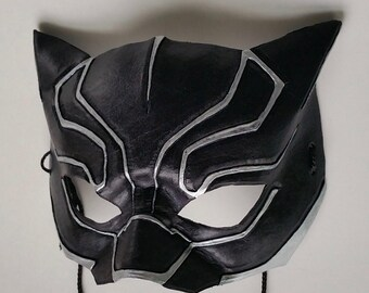 Black panther mask etsy for Marvel black cat mask template