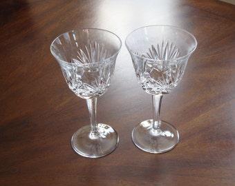 Gorham Lead Crystal Cherrywood Clear Water/Wine Goblets (2)!
