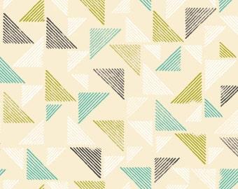 Organic Fitted Crib Sheet, Organic Baby Bedding, 100% Certified Organic Crib Sheet, Triangles