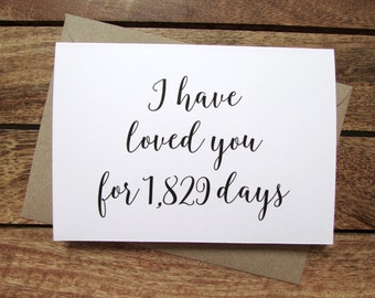 Wedding Card | I Have Loved You For Card | To My Groom on Our Wedding Day Card | Bride Card | Anniversary Card | Folded A6 Card & Envelope