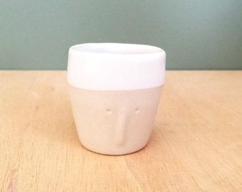 """""""Friend"""" - Cup espresso Cup / pot to plants - sandstone - small handmade in my Studio - ready to ship"""