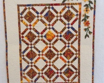 small quilt, mini quilt, wallhanging, candle mat, table centre, patchwork quilt