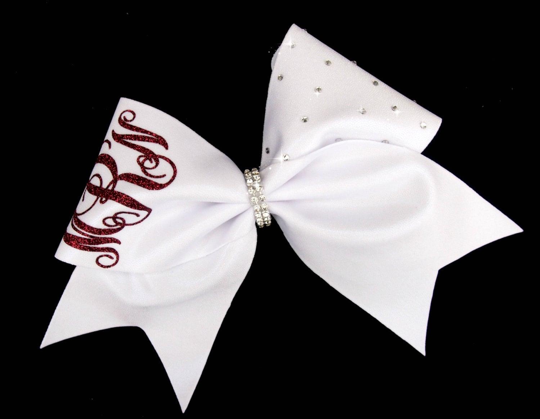 monogram cheer bow cheer bows cheer bows for teams team