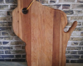 Wood Cutting Board, State Cutting Board, Souvenir Cutting Board, Wisconsin Cutting Board