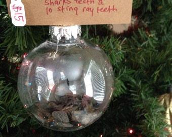 Sharks teeth christmas ornament