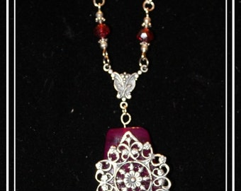 Vintage Red Agate Necklace