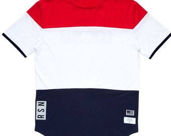 Red white Blue layers T-shirt