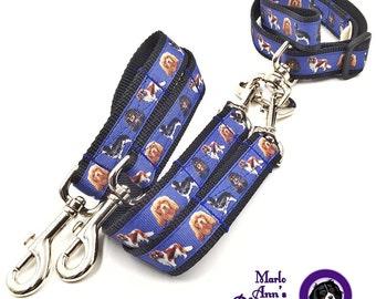 No-Tangle Dog Leash / Dog Leash Coupler // Nylon Tangle Free Dog Leash / Nylon Dog Leash Coupler