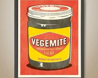Vegemite Pop Art Poster