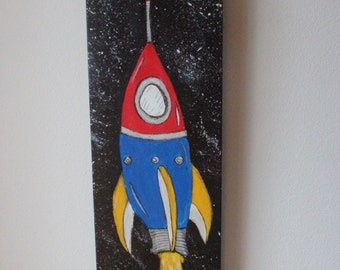 Rocket Ship Painting