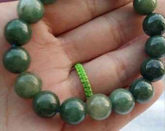 Natural jade beaded bracelet, fashion and beauty jade bracelets, good luck Green Bracelet