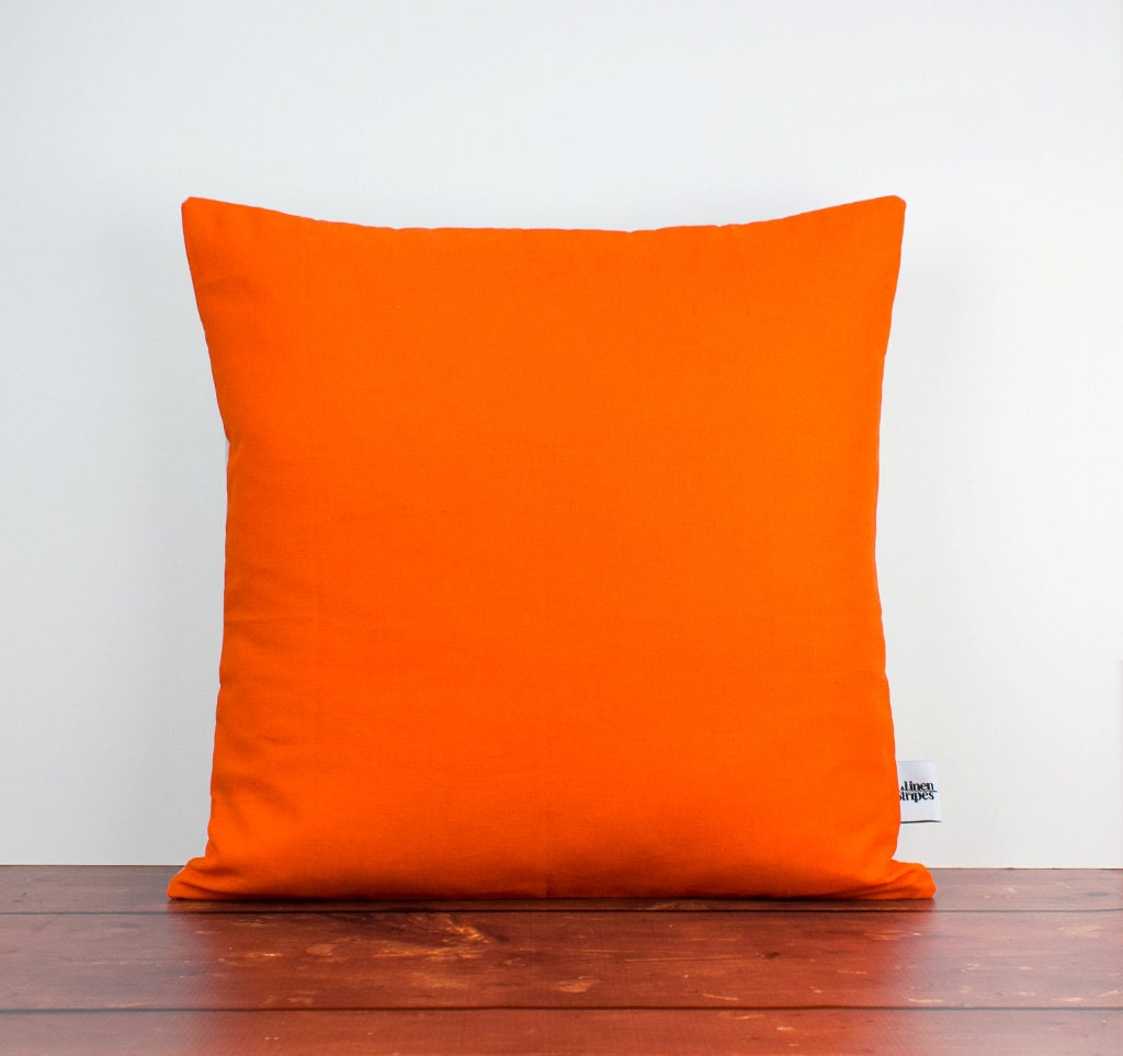 Orange cushions Orange pillow Orange throw pillow Orange