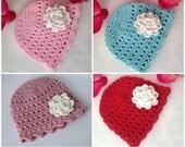 CROCHET PATTERN, Crochet beanie, beautiful baby crochet beanie, baby hat pattern, very simple to make, full of photos