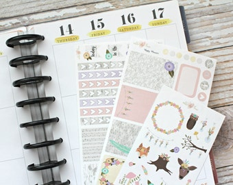 Woodland Birch Kit - HAPPY PLANNER - Planner Stickers - Matte or Glossy