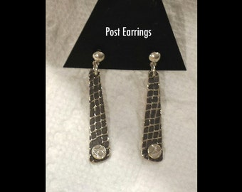 Silver Dollar Catch - Fine Silver Dangle POST Earrings