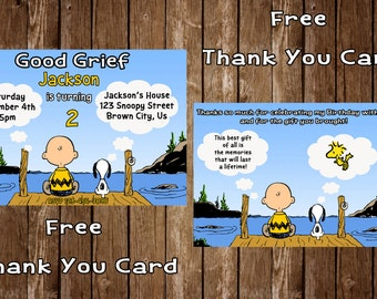 Charlie Brown Birthday Invitation