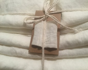 Pure Linen sheet set, Antique White/ Ivory. King, Queen size, 100% pure Belgian  linen, extra deep fitted linen sheets