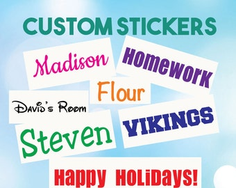 Name Sticker - Vinyl Word Sticker - Personalized Name Decal - Vinyl Name Decal - Name Decal - Name for Bottles - Custom Name Decals - Name