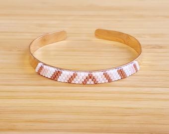 Bracelet Kaya plate Rose Gold