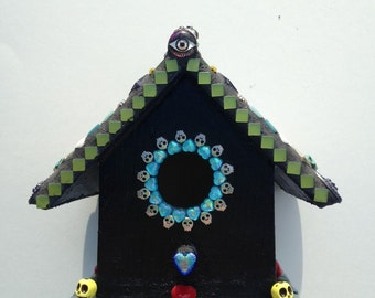 Mosaic Day of the Dead Bird House