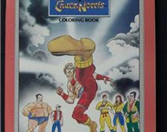 1986 Chuck Norris coloring book Meet the Karate Kommandos unused fun for the Walker TEXAS Ranger fun and kung fu martial arts fans