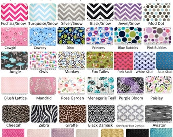 Minky fitted crib sheet, you choose the color.