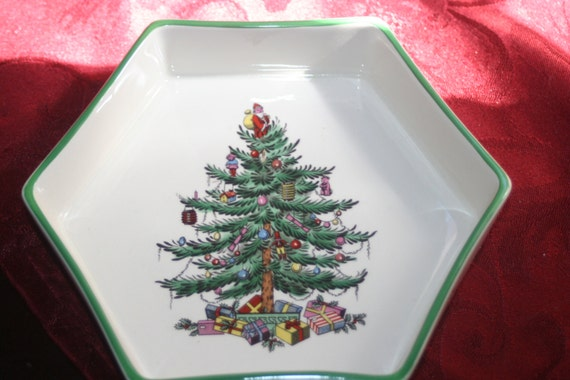 On Sale Spode Christmas Tree DishVintage Christmas