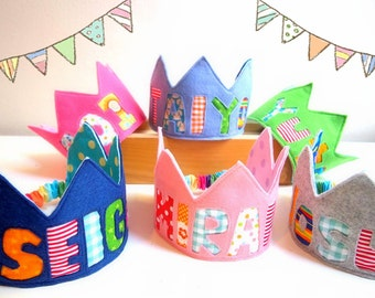 Personalized Felt Birthday Crown