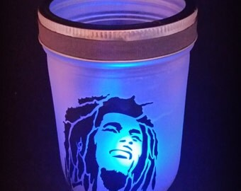 Bob Marley Lantern, Party Light, Patio Lantern with color changing tealight
