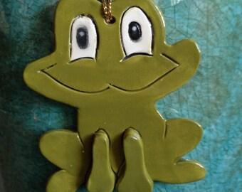Frog ornament frog Christmas ornament