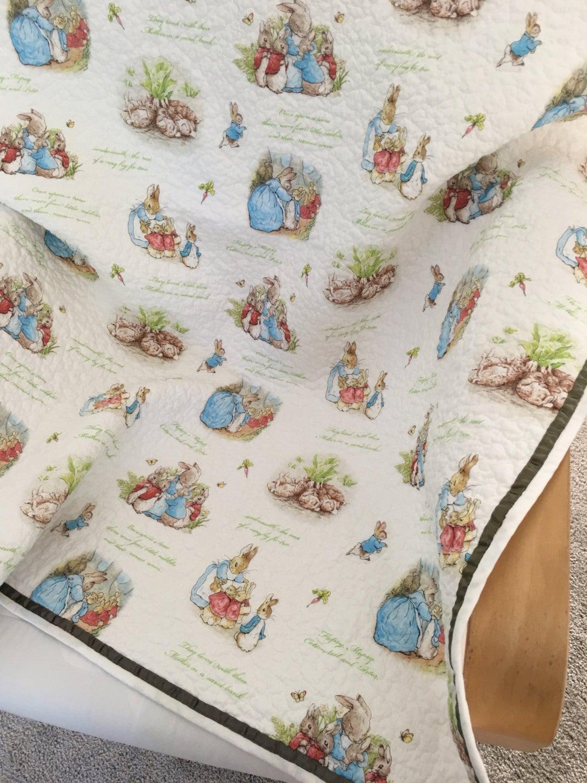Peter Rabbit Baby Quilt Boy Quilt Girl Quilt Beatrix Potter