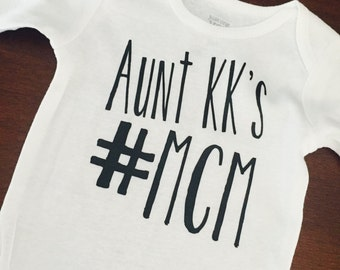 Man crush Monday. Baby boy. Little brother. Custom baby top. Any name. Custom with any name.