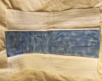 Burp Cloth, Flannel Print, 100% Cotton, Blue, Ready to Ship