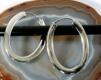Hoops 925 sterling silver   --  4710