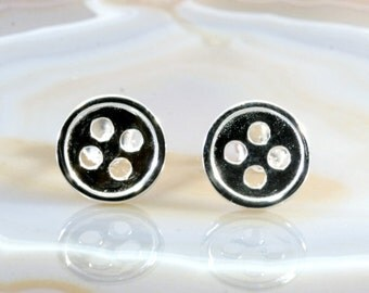 Buttons for the ears -  silver earstud