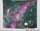 Purple/Teal GALAXY   Tapestry  (Indoor/Outdoor)  Art/Wall Hanging/Picture/Tapestries/Light Weight/Home Decor