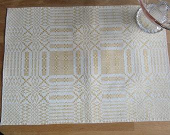 Vintage Swedish woven tablet handicraft.