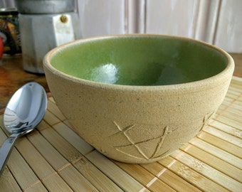 Decorated Handmade Pottery Bowl