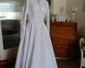 1950s Reproduction Wedding Gown and Jacket