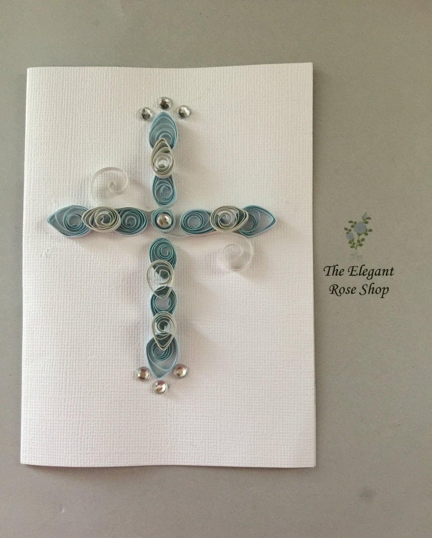 Beautiful Handmade Paper Quilled Cross Card