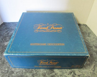 Vintage 1981 Trivial Pursuit Master Game Genus Edition Complete