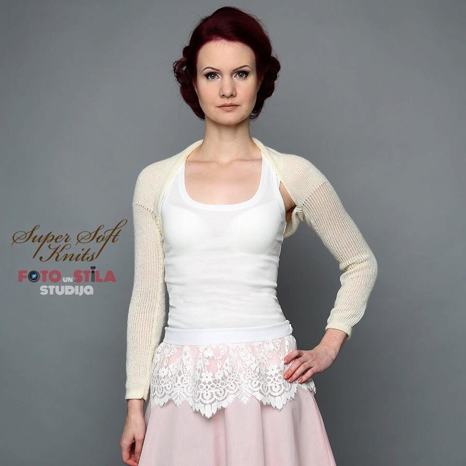 Ivory Bridal Shrug Wedding Bolero Bridal Bolero Jacket Baby