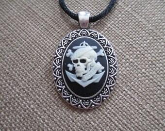 Cameo {Davey Jones Skull} Pendant Necklace