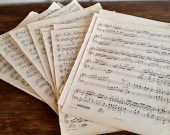 Vintage Sheet Music, Wedding Table Decorations, Vintage Photo Props