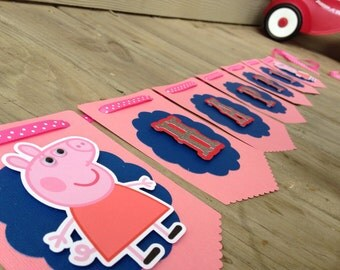 Peppa Pig Birthday Banner Peppa Pig Party Banner.