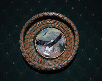 """Pine Needle Basket """"Fly Like an Eagle"""""""