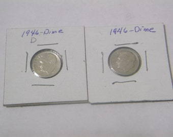 2/Dimes 1946-D and 1946-P