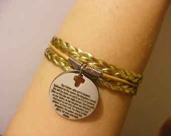 Lord's Prayer bracelet, Lord's Prayer jewelry, Christian bracelet, Christian jewelry, religious bracelet, religious jewelry, fashion jewelry