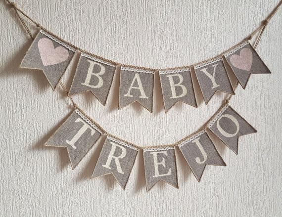 burlap baby banner baby banner baby shower by friendlyevents