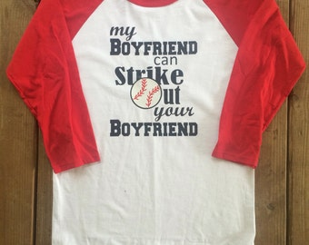 Custom Vinyl Royal Blue Sleeve Baseball Raglan T-Shirt-Baseball Season- Baseball Girlfriend-Love-Bat-Boyfriend-Girlfriend